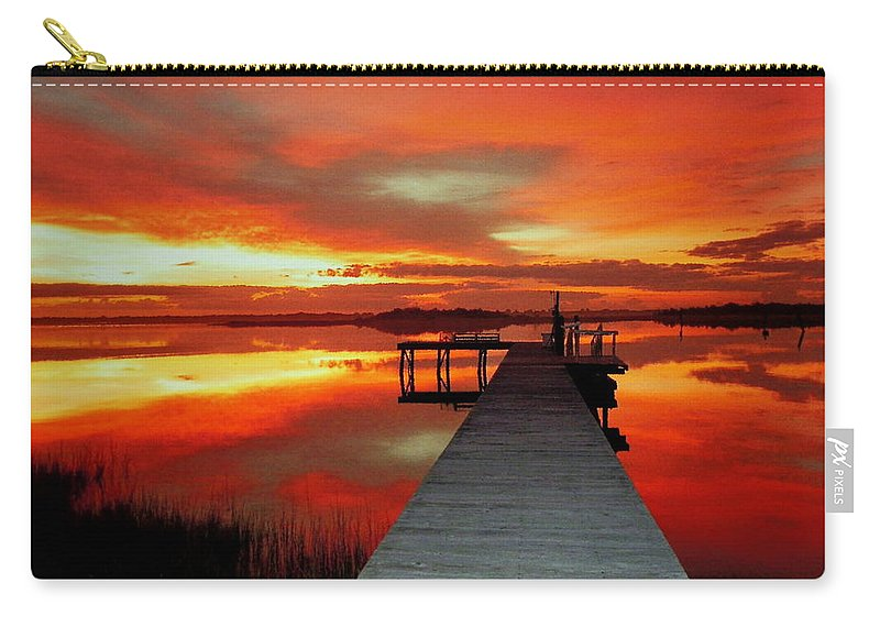 Sunsets Carry-all Pouch featuring the photograph New Dawn Of New Year by Karen Wiles