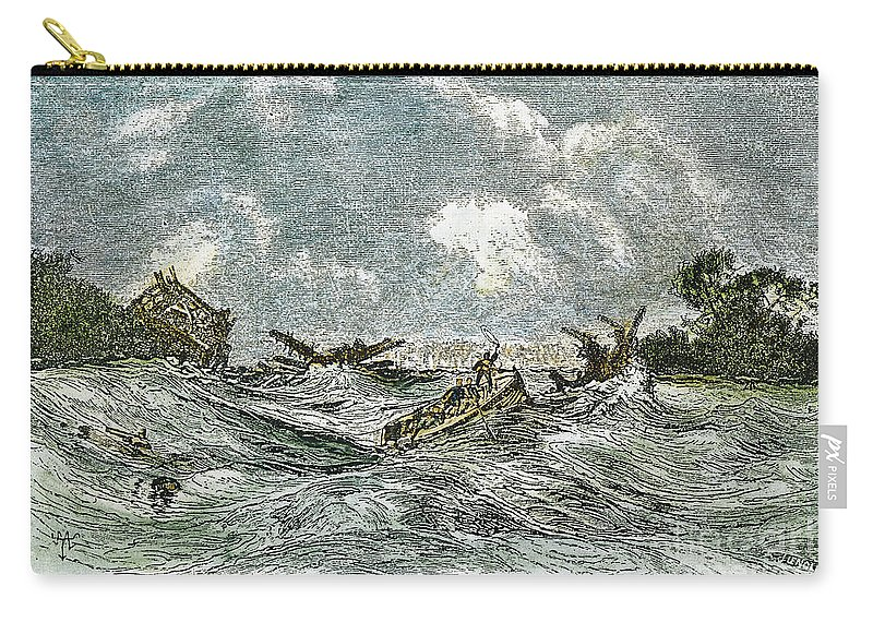 1811 Carry-all Pouch featuring the photograph New Madrid Earthquake by Granger