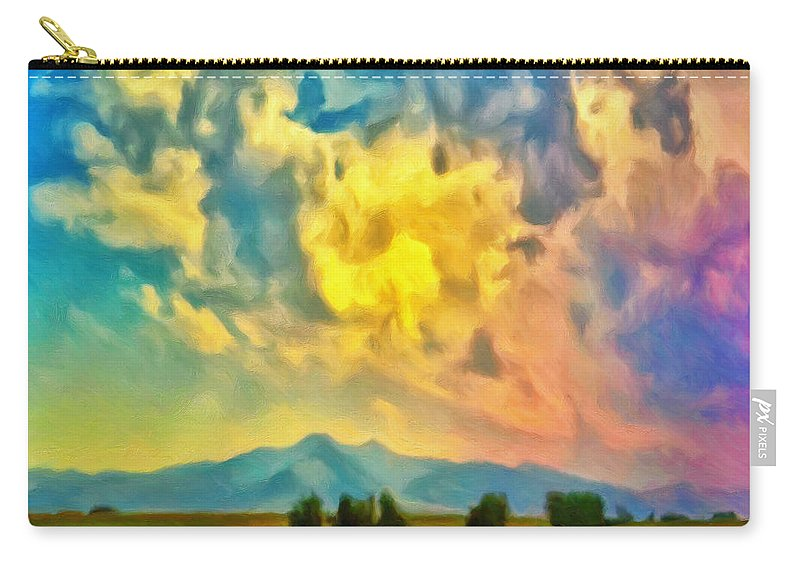 New Mexico Carry-all Pouch featuring the painting New Mexico Dawn by Dominic Piperata