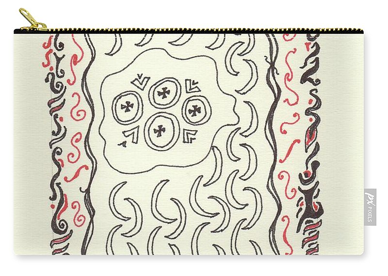 Drawing Carry-all Pouch featuring the drawing New Mexico Moon 4 by Catherine Helmick