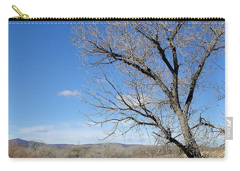 Landscape Carry-all Pouch featuring the photograph New Mexico Series - A View Espanola by Kathleen Grace