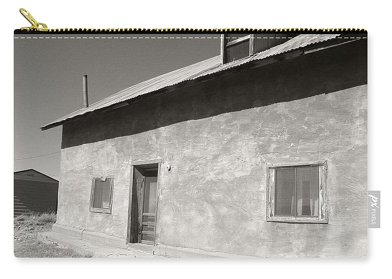 House Carry-all Pouch featuring the photograph New Mexico Series - Adobe House In Truchas by Kathleen Grace