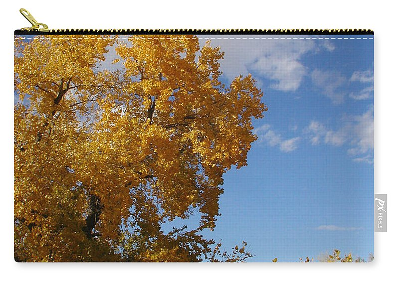 Landscape Carry-all Pouch featuring the photograph New Mexico Series - Desert Landscape Autumn by Kathleen Grace