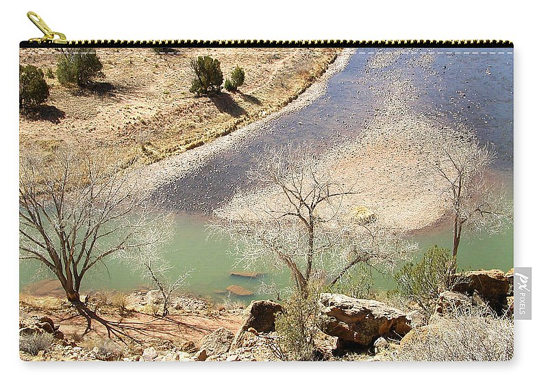 New Mexico Carry-all Pouch featuring the photograph New Mexico Series A River View by Kathleen Grace