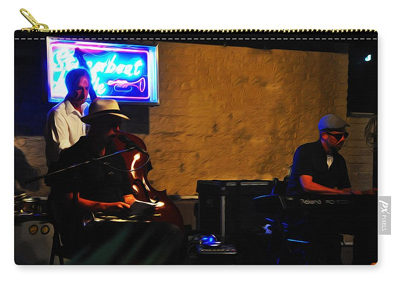 New Orleans Jazz Band Carry-all Pouch featuring the photograph New Orleans Jazz Band by Bill Cannon