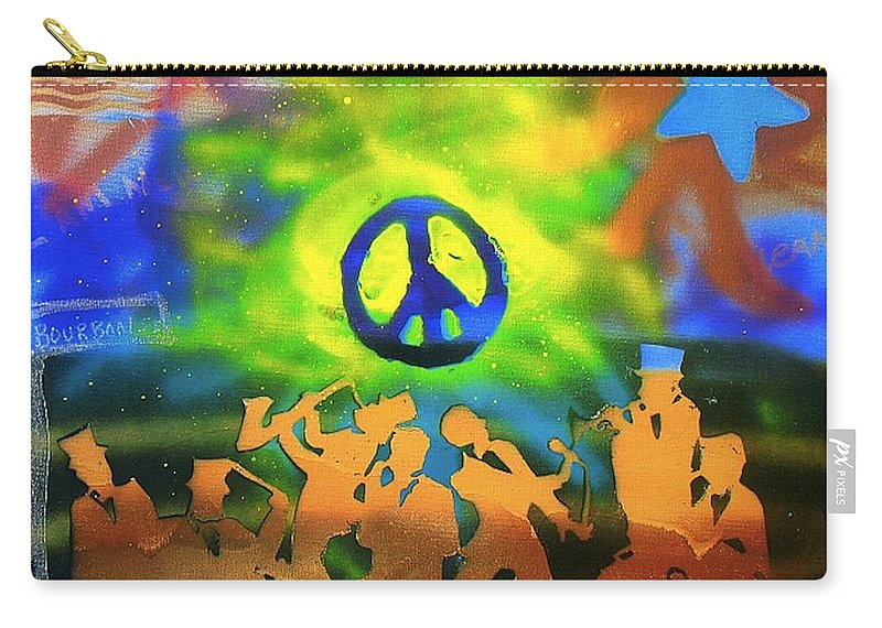 Jazz Carry-all Pouch featuring the painting New Orleans by Tony B Conscious