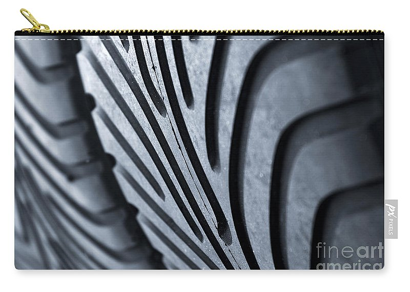 Auto Carry-all Pouch featuring the photograph New Racing Tires by Carlos Caetano