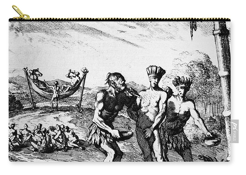 1727 Carry-all Pouch featuring the photograph New World: El Dorado, 1727 by Granger