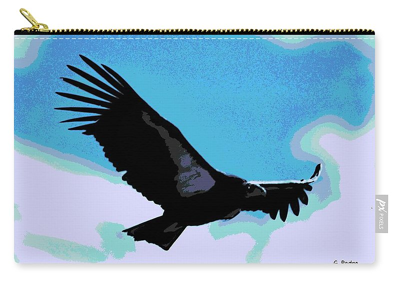 New World Carry-all Pouch featuring the photograph New World Vulture by George Pedro