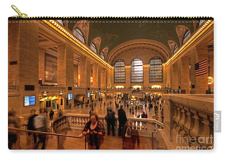 Grand Carry-all Pouch featuring the photograph New York Grand Central by Rob Hawkins