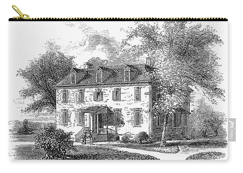 1748 Carry-all Pouch featuring the photograph New York Mansion, 1748 by Granger