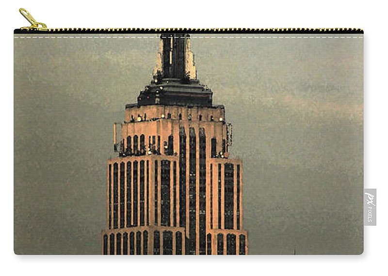 New York Carry-all Pouch featuring the photograph New York Watercolor 1 by Andrew Fare