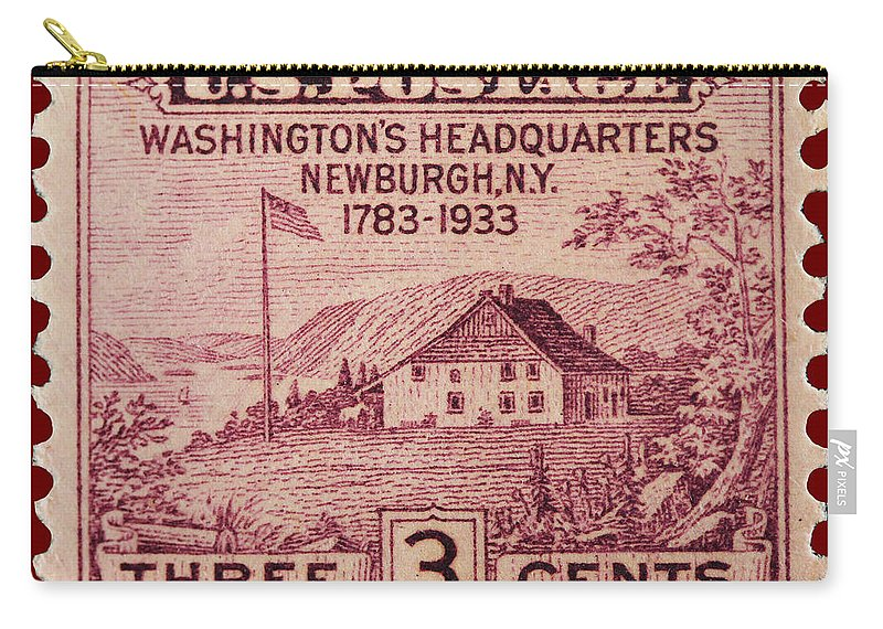 Newburgh Carry-all Pouch featuring the photograph Newburgh Ny Postage Stamp by James Hill