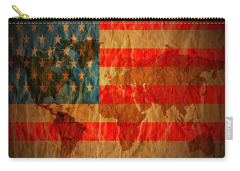 Window Framed Prints Framed Prints Framed Prints Framed Prints Carry-all Pouch featuring the photograph News Media Stars Stripes by The Artist Project