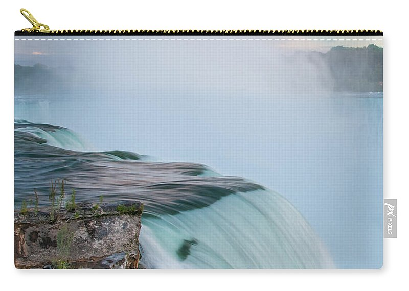 Guy Whiteley Photography Carry-all Pouch featuring the photograph Niagara Mist by Guy Whiteley