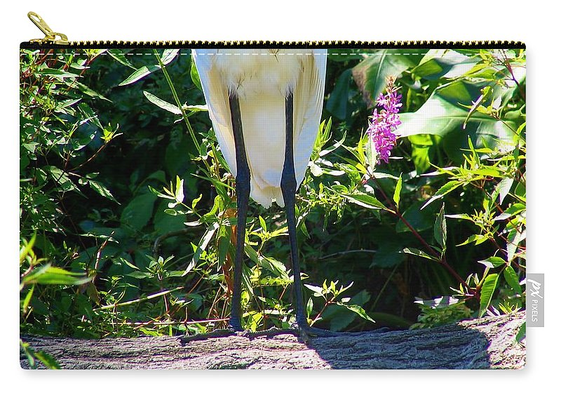 Egret Carry-all Pouch featuring the photograph Nice Legs by Art Dingo