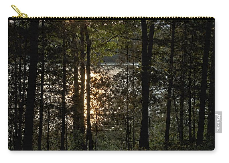 Campground Carry-all Pouch featuring the photograph Nichols Lake by Joseph Yarbrough