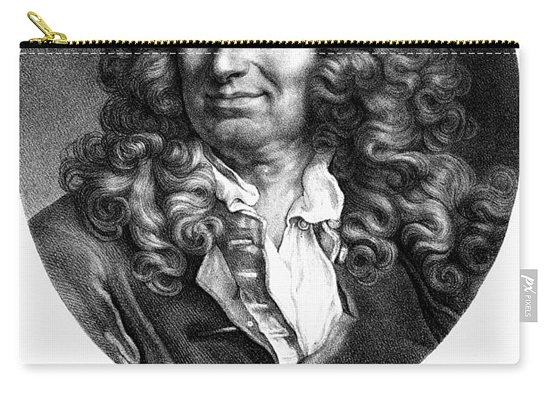 18th Century Carry-all Pouch featuring the photograph Nicolas Boileau (1636-1711). French Critic And Poet. Lithograph, French, 19th Century by Granger