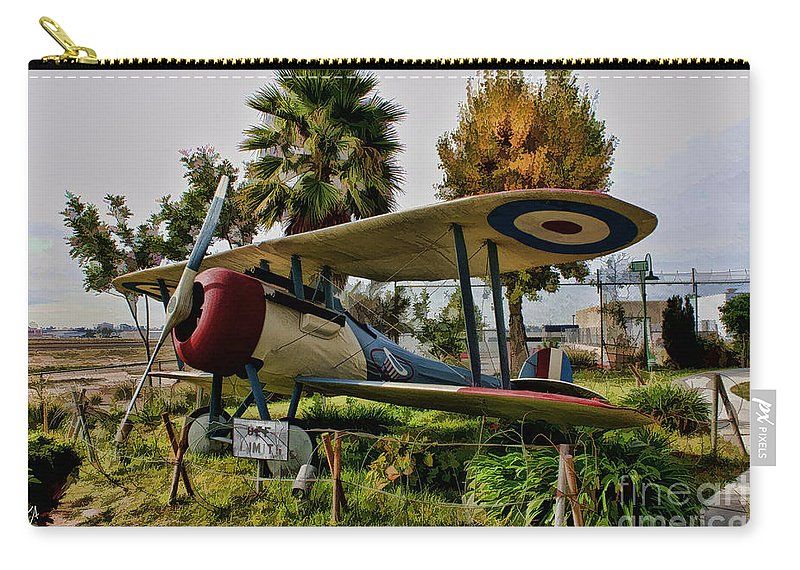 Nieuport 28 Carry-all Pouch featuring the digital art Nieuport 28 by Tommy Anderson