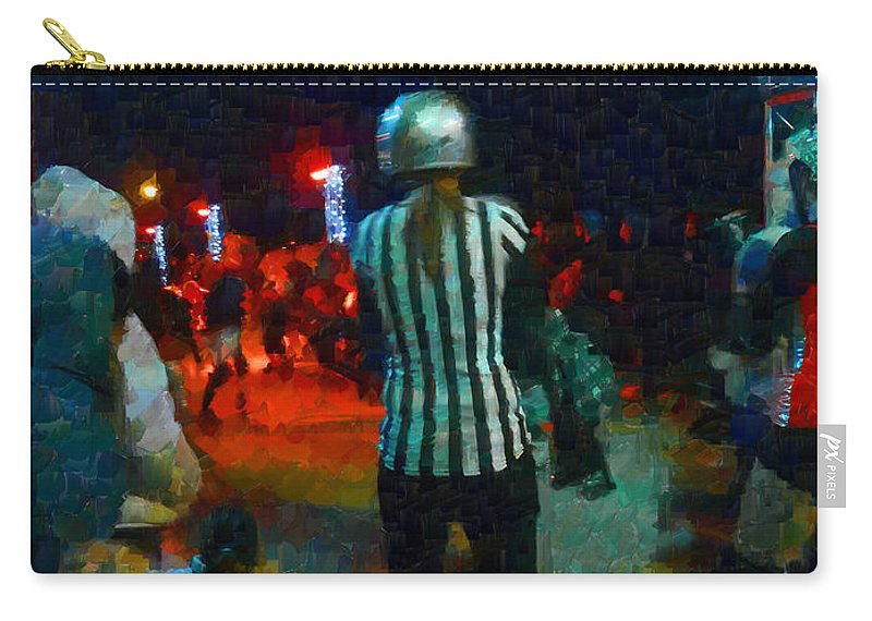 Roller Carry-all Pouch featuring the photograph Night At The Roller Derby by Steve Taylor