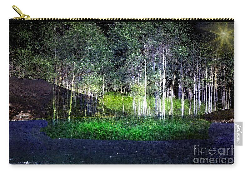 Trees Carry-all Pouch featuring the photograph Night Magic I by Madeline Ellis