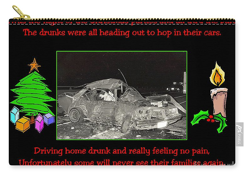 Accidents Carry-all Pouch featuring the photograph Night Of Christmas by Randy Harris