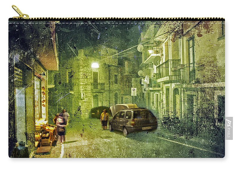 Night Carry-all Pouch featuring the photograph Night Scene In Sicily 2 by Madeline Ellis