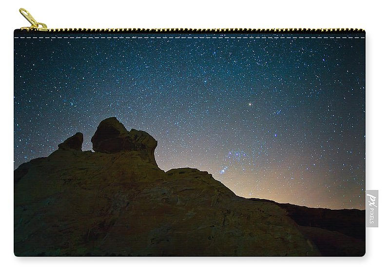 Desert Carry-all Pouch featuring the photograph Night Sky Over Valley Of Fire by Rick Berk