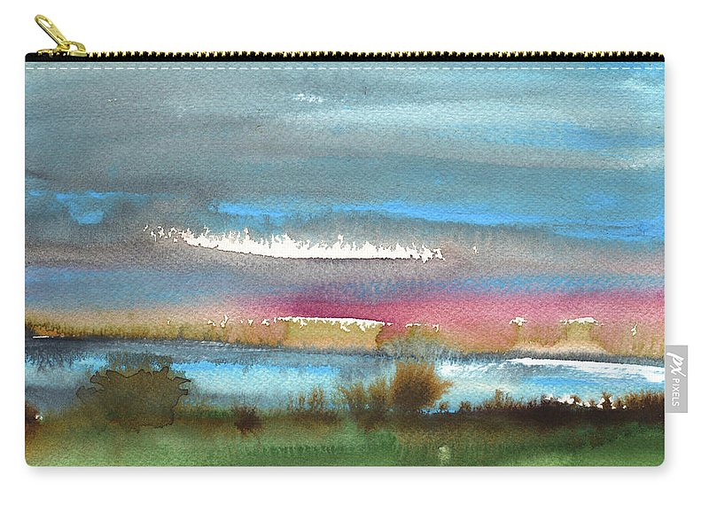 Times Carry-all Pouch featuring the painting Nightfall 27 by Miki De Goodaboom