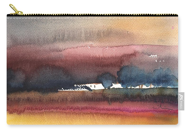 Times Carry-all Pouch featuring the painting Nightfall 28 by Miki De Goodaboom