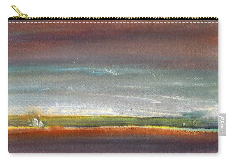 Times Carry-all Pouch featuring the painting Nightfall 29 by Miki De Goodaboom