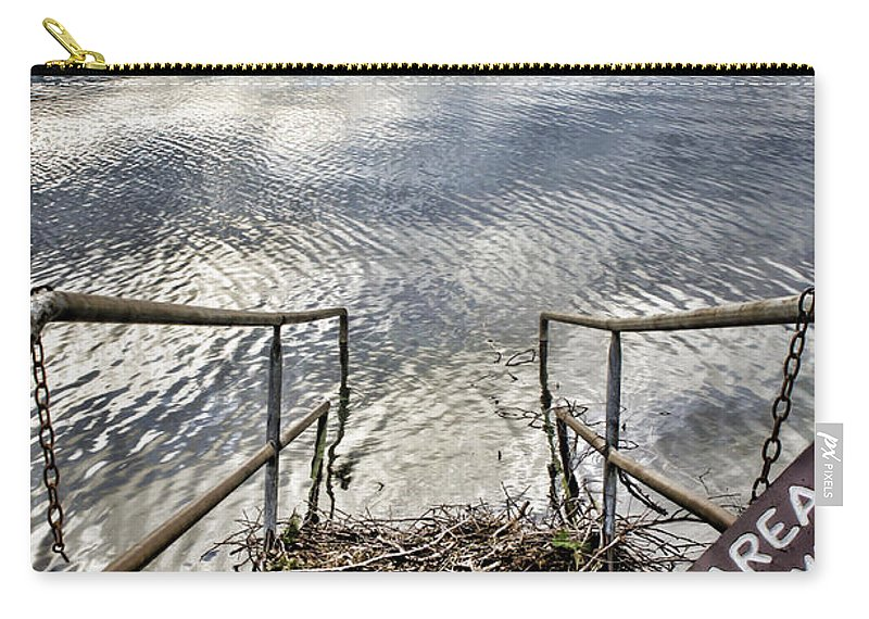 Washington Carry-all Pouch featuring the photograph No Fishing by Heather Applegate