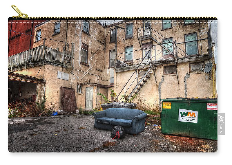 Acrylic Prints Carry-all Pouch featuring the photograph No Humans Today by John Herzog