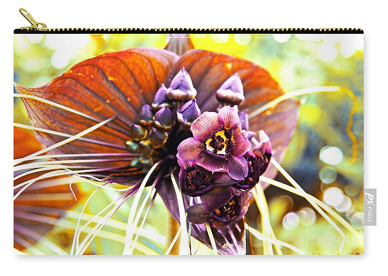 Orchid Carry-all Pouch featuring the photograph No Name Orchid by Susanne Van Hulst