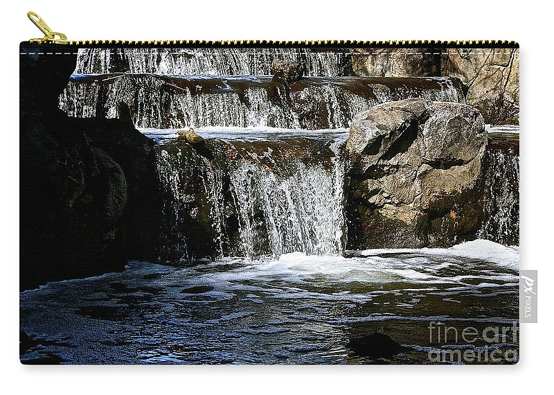 Outdoors Carry-all Pouch featuring the photograph Normandale Falls by Susan Herber