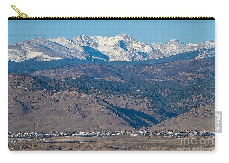 Boulder Carry-all Pouch featuring the photograph North Boulder Colorado Front Range View by James BO Insogna