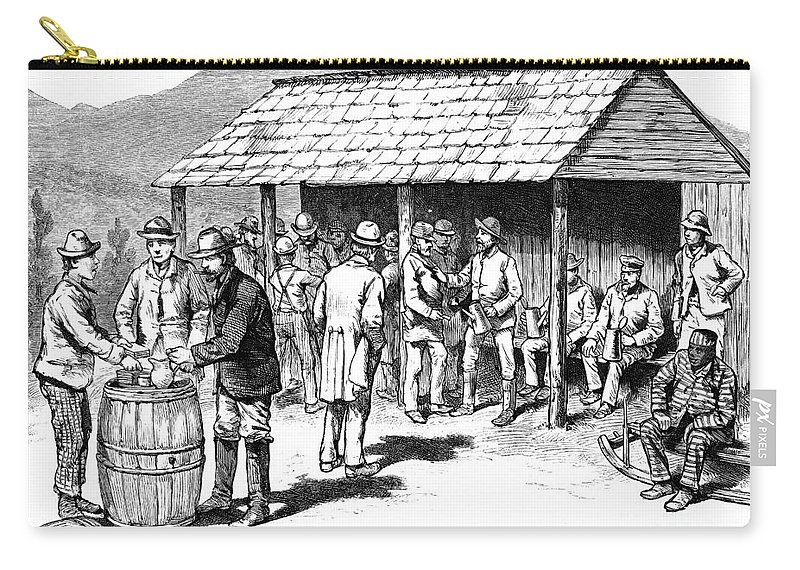 1884 Carry-all Pouch featuring the photograph North Carolina: Election by Granger