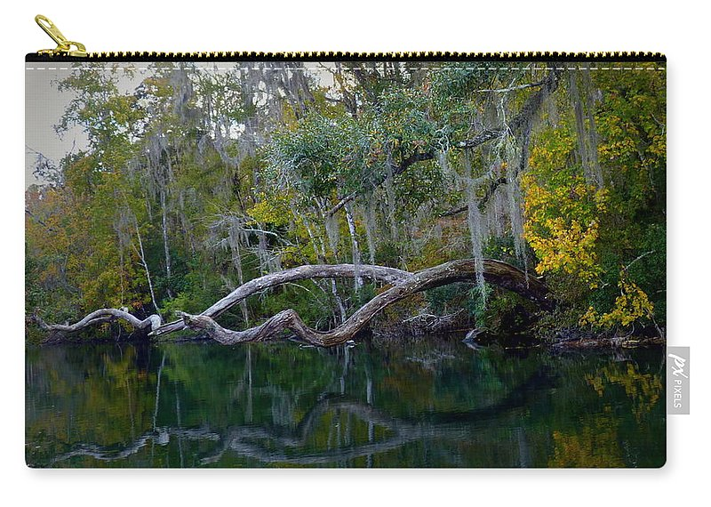 Florida Carry-all Pouch featuring the photograph North Florida River Reflections by Carla Parris