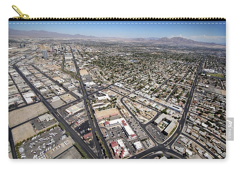 North Las Vegas Carry-all Pouch featuring the photograph North Las Vegas View by Jessica Velasco