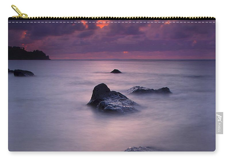 Anini Beach Carry-all Pouch featuring the photograph North Shore Breeze by Mike Dawson
