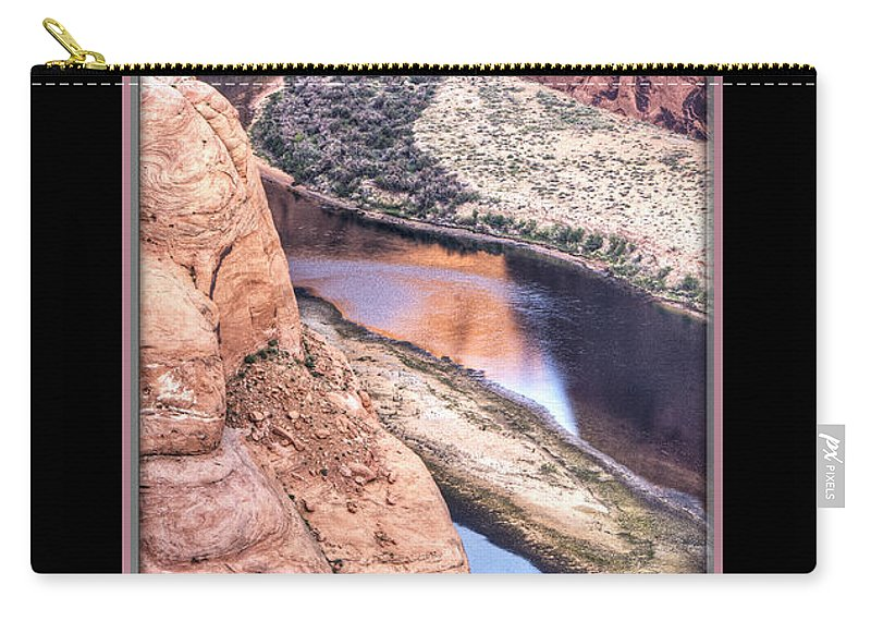 Horseshoe Bend Carry-all Pouch featuring the photograph North Side Of Horseshoe Bend by Larry White