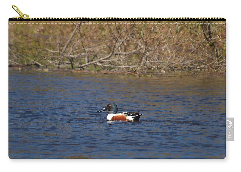 Isosuo Carry-all Pouch featuring the photograph Northern Shoveler by Jouko Lehto