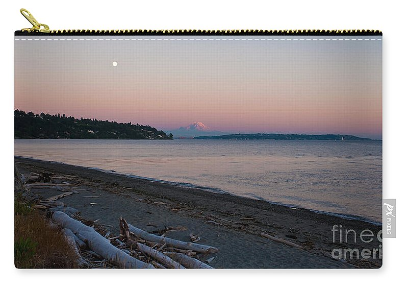Rainier Carry-all Pouch featuring the photograph Northwest Evening by Mike Reid