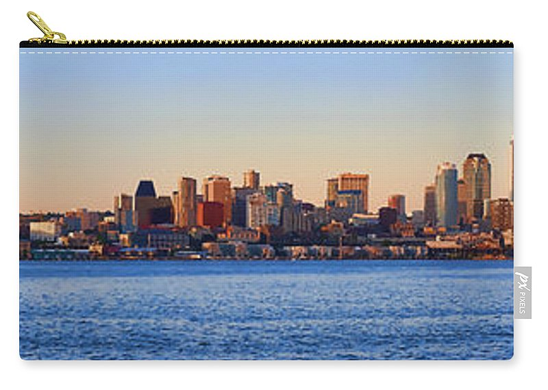 Digital Photo Art Carry-all Pouch featuring the photograph Northwest Jewel - Seattle Skyline Cityscape by James Heckt