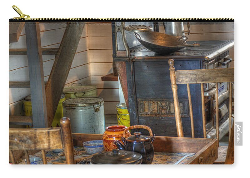Nostalgia Carry-all Pouch featuring the photograph Nostalgia Country Kitchen by Bob Christopher
