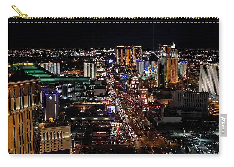 Las Vegas Carry-all Pouch featuring the photograph Not Everything Stays In Vegas by Ericamaxine Price