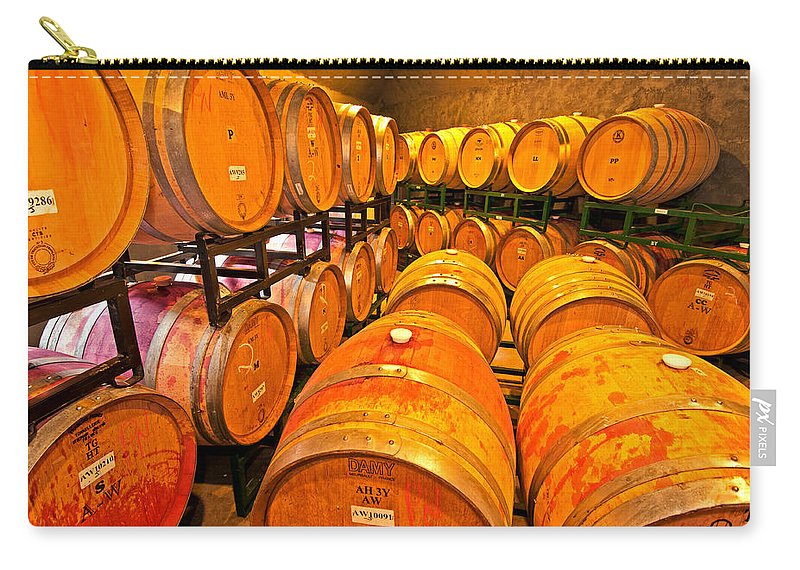 wine Barrels Carry-all Pouch featuring the photograph Nothing To Wine About by Paul Mangold
