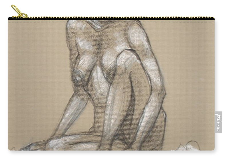 Realism Carry-all Pouch featuring the drawing Nova Cynthia 1 by Donelli DiMaria