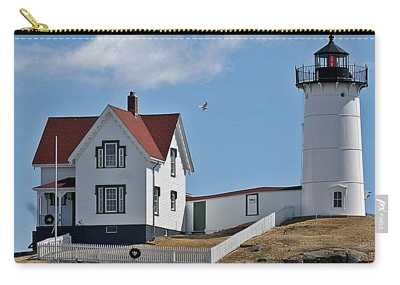 Nubble Light Carry-all Pouch featuring the photograph Nubble Light IIi by Joe Faherty