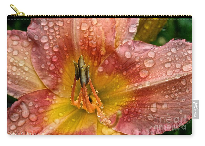 Floral Carry-all Pouch featuring the photograph Nursery School Daylily by Susan Herber